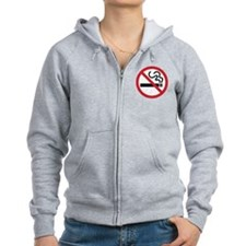 No Smoking Icon Zip Hoodie