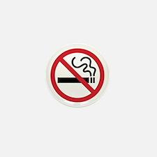 No Smoking Icon Mini Button