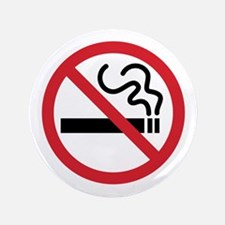 "No Smoking Icon 3.5"" Button"