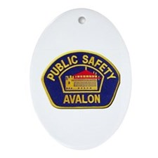 Avalon Public Safety Ornament (Oval)