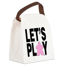 Let's Play Canvas Lunch Bag