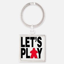 Let's Play Square Keychain