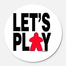 Let's Play Round Car Magnet