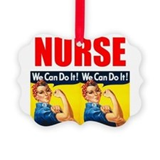 Nurse Rosie the Riveter We Can Do It Ornament