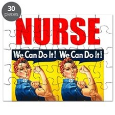 Nurse Rosie the Riveter We Can Do It Puzzle