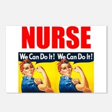 Nurse Rosie the Riveter We Can Do It Postcards (Pa