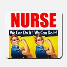 Nurse Rosie the Riveter We Can Do It Mousepad