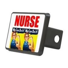 Nurse Rosie the Riveter We Can Do It Hitch Cover