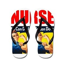 Nurse Rosie the Riveter We Can Do It Flip Flops