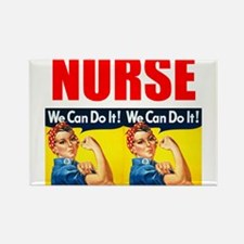 Nurse Rosie the Riveter We Can Do It Magnets