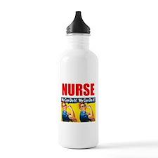 Nurse Rosie the Riveter We Can Do It Water Bottle