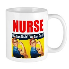 Nurse Rosie the Riveter We Can Do It Mugs