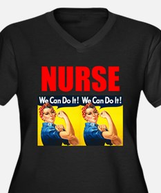Nurse Rosie the Riveter We Can Do It Plus Size T-S