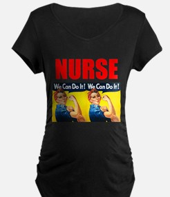 Nurse Rosie the Riveter We Can Do It Maternity T-S