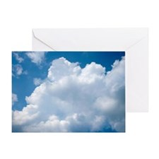 Puffy White Clouds Card Greeting Cards
