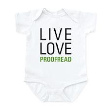 Live Love Proofread Infant Bodysuit