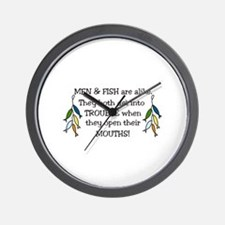 Get Into Trouble Wall Clock