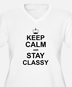 Keep Calm and Stay Classy 2014 Plus Size T-Shirt