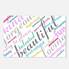 Positive Thinking Text Postcards (Package of 8)