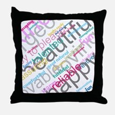 Positive Thinking Text Throw Pillow