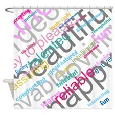 Positive Thinking Text Shower Curtain