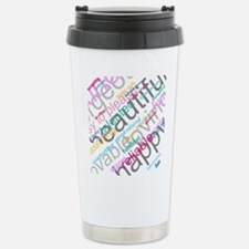 Positive Thinking Text Stainless Steel Travel Mug