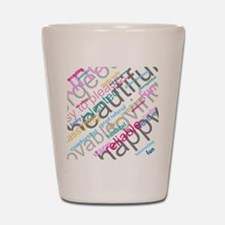 Positive Thinking Text Shot Glass