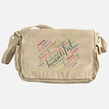 Positive Thinking Text Messenger Bag