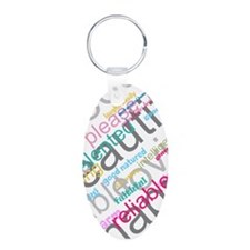 Positive Thinking Text Keychains