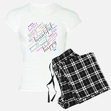Positive Thinking Text Pajamas