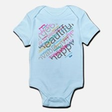 Positive Thinking Text Infant Bodysuit