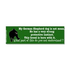 Cool German shepherd dog sports Car Magnet 10 x 3