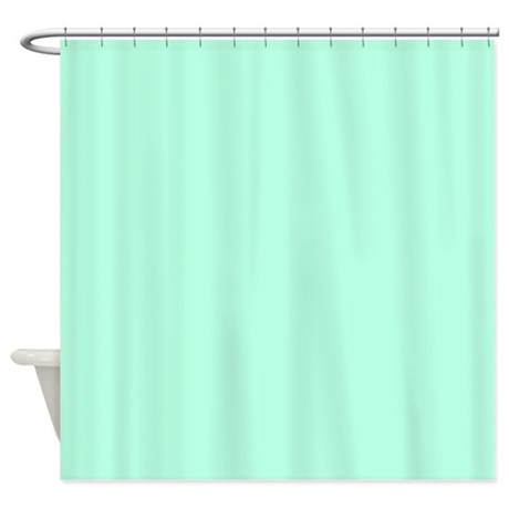 Solid Mint Green Shower Curtain By TheShowerCurtain