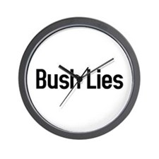 Bush Lies Wall Clock