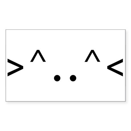 < KITTY > CODE Rectangle Sticker