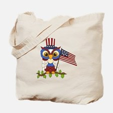 Patriotic Owl Tote Bag