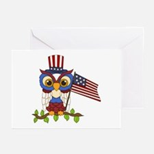 Patriotic Owl Greeting Cards (Pk of 10)