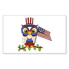 Patriotic Owl Decal