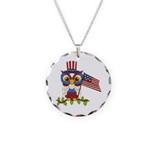 Patriotic Owl Necklace