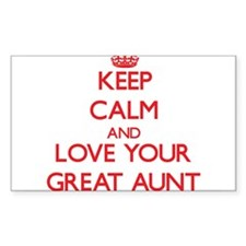 Keep Calm and Love your Great Aunt Decal