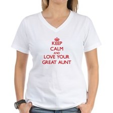 Keep Calm and Love your Great Aunt T-Shirt