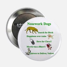 "Nosework Dogs Working 2.25"" Button"