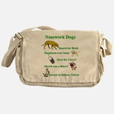 Nosework Dogs Working Messenger Bag