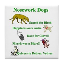 Nosework Dogs Working Tile Coaster