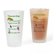 Nosework Dogs Working Drinking Glass