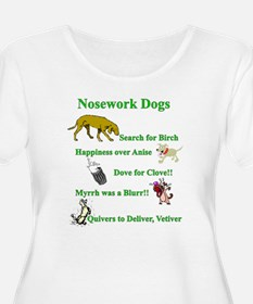 Nosework Dogs Working Plus Size T-Shirt