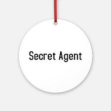Secret Agent Ornament (Round)