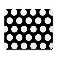 # Black And White Polka Dots Mousepad