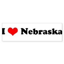 I Love Nebraska - Bumper Bumper Sticker