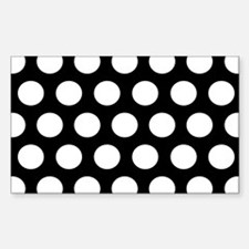 #Black And White Polka Dots Decal